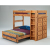 Twin/Full Loft Bed w/Ten Drawer Chest 4977 (PC)