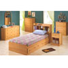 Oak Twin Bed  with Bookcase Headboard 400080/81 (CO)