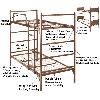 Demountable Metal Bunk Bed 4000(ABM)