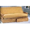 Natural Finish Mission Style Futon  And Drawer Set 4837(CO)