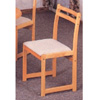 Natural Wood Chair With Padded Seat 4125 (CO)