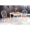 3-Pc Natural/White Table And Chairs Set 4191/4129 (COFS60)