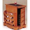Oak Finish Magazine Cabinet With Storage 4514 (CO)