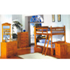 Twin-Twin Convertible Bookcase Bunk Bed  4521PNE (ML)