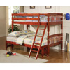 Solid Wood Twin Over Full Cherry Bunk Bed 460222(CO)