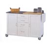 Dual Top Work Island 46401WHT-01-KD (LN)