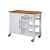 Three Shelf Wood Top Work Island -White 46411WHT-01-KD-U(LN)
