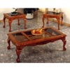 3-Pc Oak Finish Coffee And End Table Set 5226 (CO)