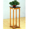 Oak Finish Plant Stand W/GN Marble Top 5336(COFS13)