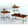 3-Pc Rustic Oak Finish Coffee And End Table Set 5421 (CO)