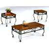 3-Pc Coffee And End Table Set In Rustic Oak Finish 5462 (CO)
