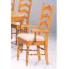 Pine Veneer Ladder Back Arm Chair 5513 (CO)