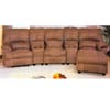 Microfiber Fabric Home Theatre Seating 5560 (A)
