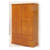 Solid Wood Wardrobe w/Two Drawers 5610_ (PI)