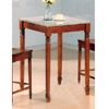 Bar Table In Walnut Finish With Granite Top 5978 (CO)