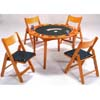 5-Piece Oak Card Table w/ Chairs Set 6184-86 (WD)