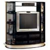 Black Entertainment Center With Silver Accents 6507 (CO)