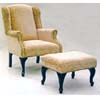 Martha Wing Chair And Ottoman Set 6601 (ML)