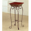 Opulent Brushed Plant Stand With Wood Top 7148 (CO)