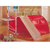 Twin Bunk Bed w/Slide And Desk 7337 (ABC)
