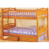 Honey Pine Twin/Twin Bunk Bed 7406(ABC)