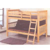 Natural Finish Twin/Full Bunk Bed 7408(ABC)