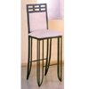 Black  Matrix Design Bar Stool With Beige Fabric 3407C(EI)