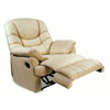 100% Leather Multi Position Chaise Recliner 7522BNE (CO)