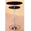 Black Bar Table With Chrome Base 7527 (CO)