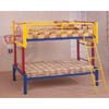Multicolor Twin/Twin Bunk Bed 7598 (CO)