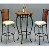 3-Pc Set Cherry Wood Top Bar Table And Stools 7609-10 (CO)