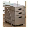 File Cabinet In Silver Finish 800074 (CO)