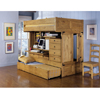 Rustica Full-Over-Twin Bunk Bed with Chair 836-944(PW)