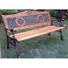 Rose Cast Iron Park Bench 90021 (LB)