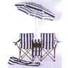 Twin Camping Chair With Umbrella 91074 (LB)