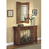 2pcs Mission Style Entry Way Foyer Console Table & Mirror Se