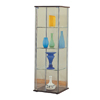 Modern Design Glass Curio in Cappuccino 950172(CO)