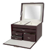 Jewelry Box with Handle -  Faux Leather 960_(OI)