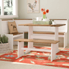 Birtie 3 Piece Breakfast Nook Dining Set (WFFS)