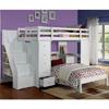 Freya Storage Loft Bed with Bookshelf Ladder (AFS)