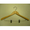 Gemin-concave suit hanger w/wire clips GMD8810 (PM)