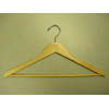 Genesis flat suit hanger w/wooden bar, natural GNA8802 (PM)