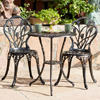 Nassau Cast Aluminum Outdoor Bistro Furniture Set (OFS130)