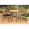 Valencia Resin Wicker/ Steel 3-piece Bar-height Bistro Chair