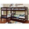 L-shaped Quadruple Twin Bunk Bed CM-BK904