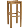 Solid Pine Backless Stool Rush Top 425_(LN)