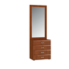 Stella Hall Cabinet with Mirror in Cherry SB-956(ACEFS)