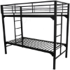 University Bunk Bed with Built in Ladders And Guard Rail