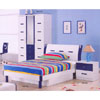 Youth Bedroom Set  In Navy Blue And White B932_ (DS)