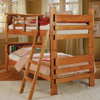 Solid Wood Bookcase Twin over Twin Bunk Bed BK-1000(WC)
